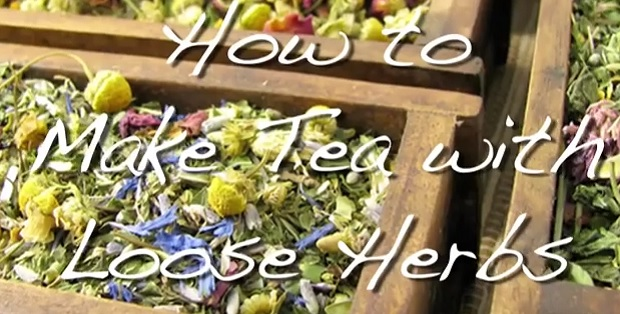 how to make herbal tea from loose leaves